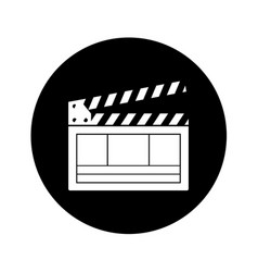 Video clapperboard isolated icon vector