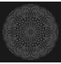 Abstrack floral circular mandala vector image