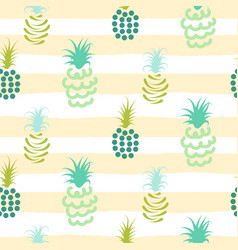 Abstract pineapple pastel colors striped pattern vector