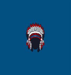 african ethnic mask logo vector image