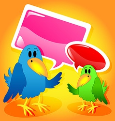 Birds with speech bubbles vector image