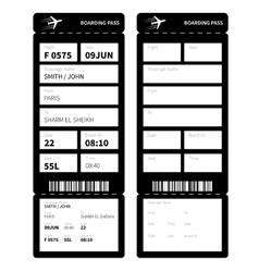Black boarding card vector image