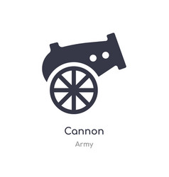 Cannon icon isolated cannon icon from army vector