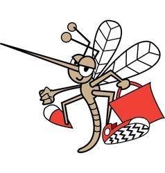 Childrens mosquito cartoon vector image