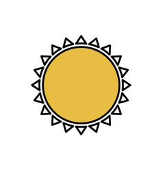 color beautiful sun abstract icon vector image