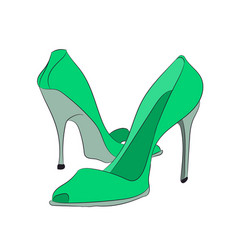 colored shoes vector image