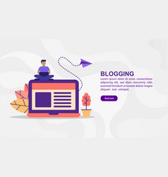 concept blogging modern conceptual for banner vector image