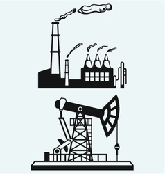Concept of oil industry and factory vector image