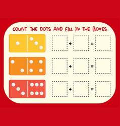 Count the dot and fill in the boxes vector