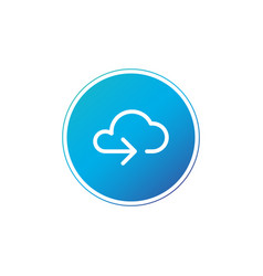 data cloud circle button backup restore upload vector image