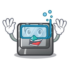 Diving t button installed on character computer vector