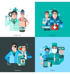 Doctor Character 2x2 Images vector