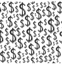 Dollars seamless pattern vector