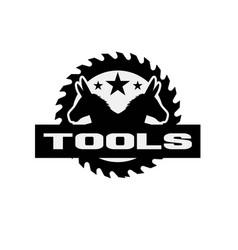 Donkey tools service logo designs simple modern vector