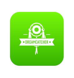 Dreamcatcher icon green vector