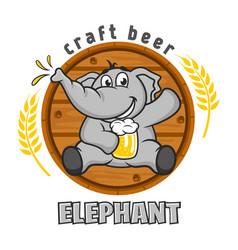 Elephant beer logo vector
