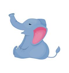 elephant character tropical zoo animal wild vector image