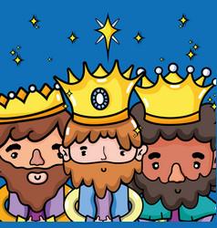 Epiphany catholic celebration to christmas vector
