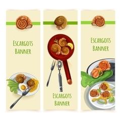 Escargout food set vector