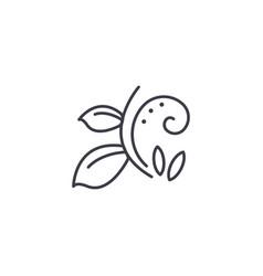 florist branch line icon concept florist branch vector image