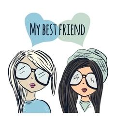 Fun fashionable girl friend Fashion girls Best vector image