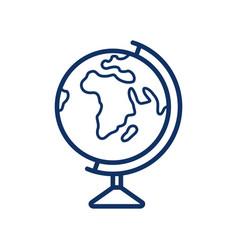 globus icon on white background vector image