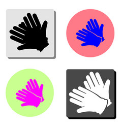 gloves flat icon vector image