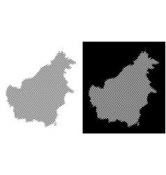 Halftone borneo island map vector