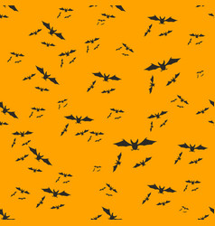 halloween decoration bats swarm seamless pattern vector image