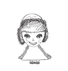 Hand drawn cartoon person sketch vector image