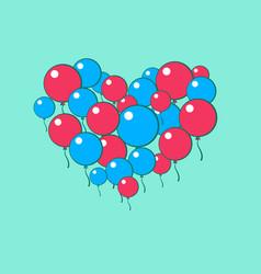 Heart of balls vector