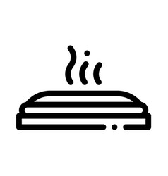 hot pizza icon outline vector image