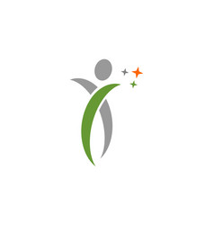 human swoosh logo vector image