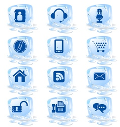 ice icons vector image