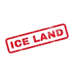 Ice land text rubber stamp vector