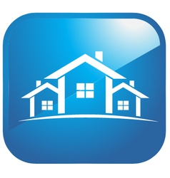Icon set of houses vector