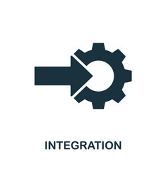 Integration icon simple element from digital vector