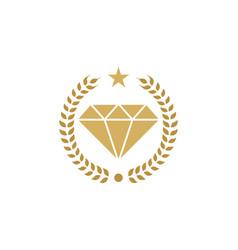 King diamond logo icon design vector