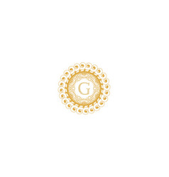 Letter g initial logo for wedding boutique luxury vector