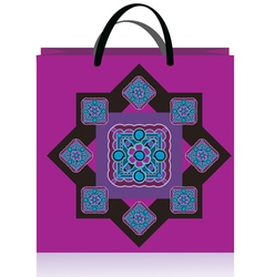 lilac bag vector image