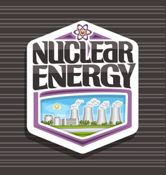 Logo for nuclear energy vector