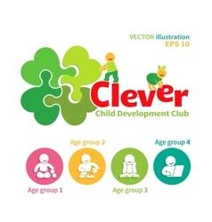 Logo of child development club vector