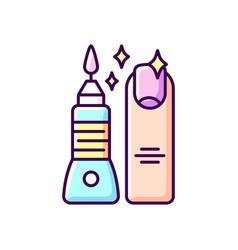 manicure and pedicure rgb color icon vector image