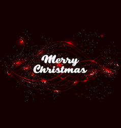 merry christmas text lettering design card vector image