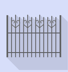 metal fence icon flat style vector image
