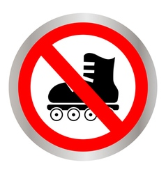 No roller skates vector image