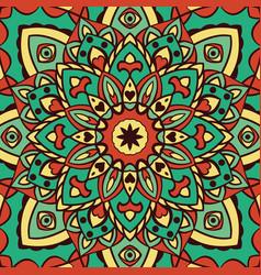 Oriental turquoise pattern vector