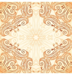 Ornate vintage seamless pattern in mehndi style vector image