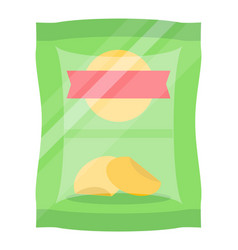 Packaged chips isolated icon vector