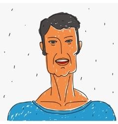Portrait Doodle Man vector